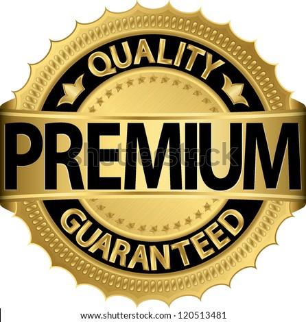 premium quality guaranteed golden label vector stock vector royalty