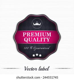 Premium quality guaranteed vector sale label