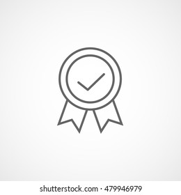 Premium Quality Label Line Icon On White Background