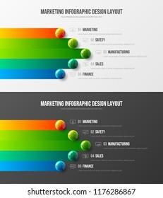 premium quality marketing analytics presentation vector stock vector