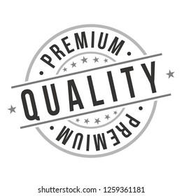 Premium Quality. Quality Original Stamp. Design Vector. Art Round Seal.