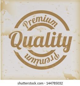 premium quality over vintage background vector illustration