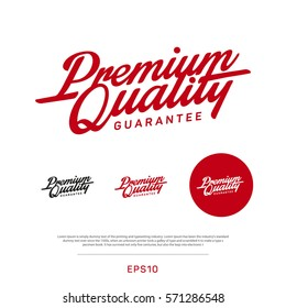 Premium, quality retro vintage sign for package design
