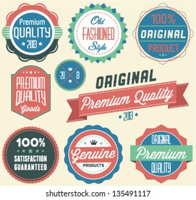 Premium Quality and Satisfaction Guarantee Label Collection in Retro Style