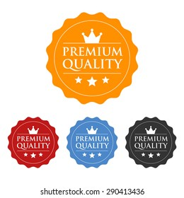 Premium quality seal or label flat vector icon
