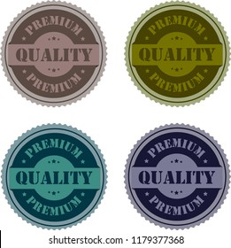Premium Quality Stamp Tag Logo Badge Label and Sticker set For Shop Business.