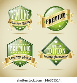Premium Quality Vector Label Collection