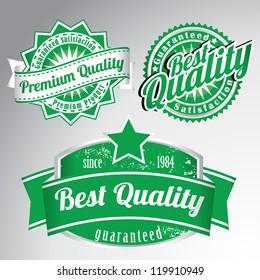 premium quality vintage labels