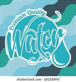 premium quality water design vector illustration