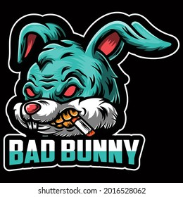 Premium Rabbit Design vector illustration format that are perfect for t-shirt, coffee mug, poster, cards, pillow cover, sticker, Canvas design, and Musk design.