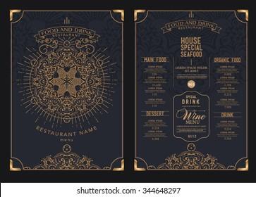 premium restaurant cafe menu, template design. Food flyer.
