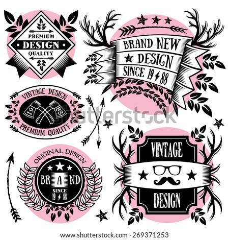 Ribbon Badges Design