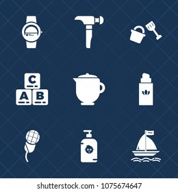 Premium set with fill icons. Such as drink, child, bucket, touch, construction, soap, tea, happy, fashion, work, mic, hot, karaoke, smart, audio, shovel, technology, collection, drill, beauty, board