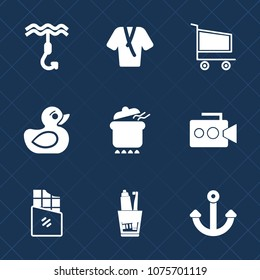 Premium set with fill icons. Such as marine, trolley, food, camera, dinner, bar, shop, retail, market, video, fashion, toothbrush, buy, fishing, toothpaste, hook, play, dental, purchase, chocolate