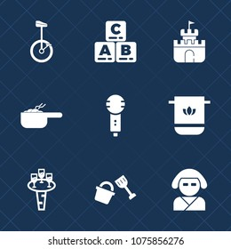 Premium set with fill icons. Such as glass, fun, child, dish, kid, cloth, pot, karaoke, wine, japan, asian, circus, shovel, education, game, sand, plastic, baby, song, beautiful, bike, alcohol, bucket