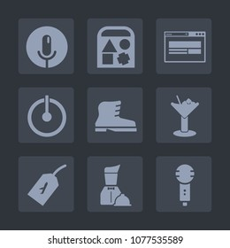 Premium set of fill icons. Such as web, power, control, fashion, alcohol, toy, footwear, voice, child, food, bear, drink, button, sound, record, karaoke, microphone, home, technology, flight, website