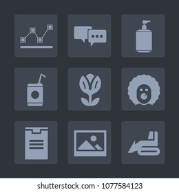 86b892f016315 Premium set of fill icons. Such as construction, art, report, nature,