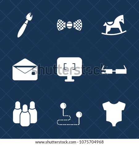 59a7554bf Premium Set Fill Icons Such Clothing Stock Vector (Royalty Free ...