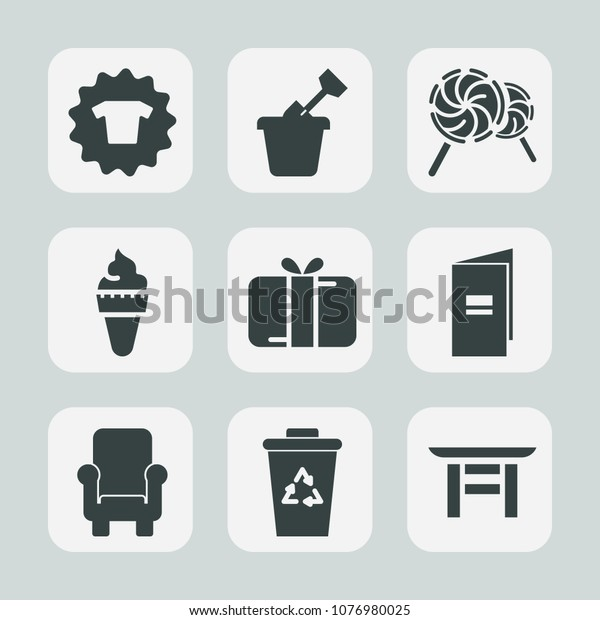 Premium Set Fill Icons Such Trash Stock Vector (Royalty Free