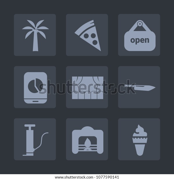 Premium Set Fill Icons Such Warm Stock Image Download Now