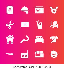 Premium set with fill vector icons. Such as day, poker, child, sound, kitchen, cute, time, house, farming, equipment, sale, market, building, play, waiter, clothes, shirt, real, harvesting, estate
