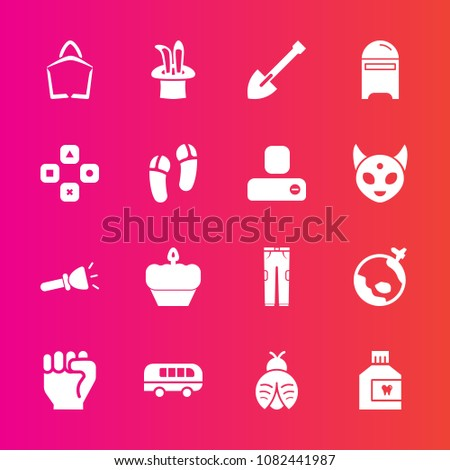 Premium Set Fill Vector Icons Such Stock Vector (Royalty
