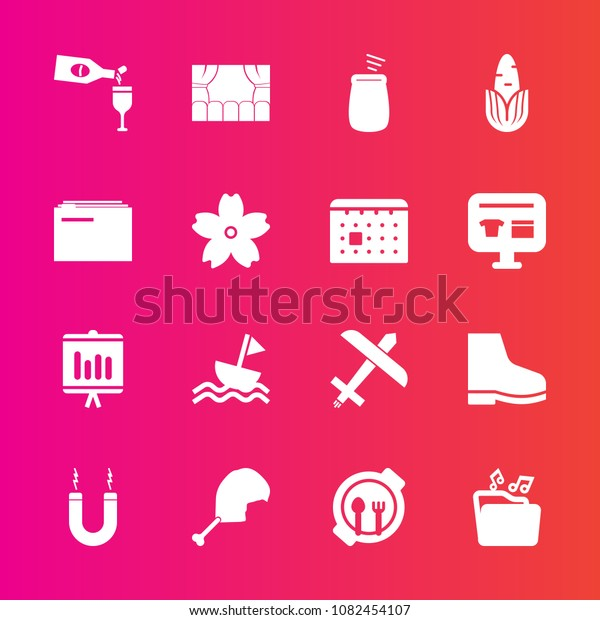 Premium Set Fill Vector Icons Such Stock Vector Royalty Free 1082454107