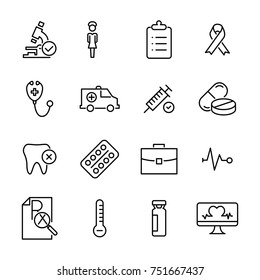 Premium set of healthcare line icons. Simple pictograms pack. Stroke vector illustration on a white background. Modern outline style icons collection.