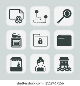 Premium set of outline, fill icons. Such as business, utensil, modern, safety, document, love, frame, wedding, couple, kitchen, success, bride, graduation, supermarket, shop, template, direction, boat