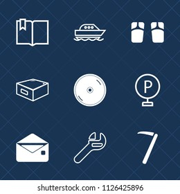 Premium Set Of Outline Fill Vector Icons Such As Drawer Mail Wrench