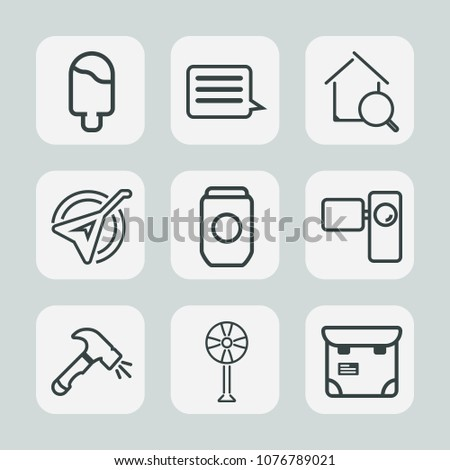 Premium Set Outline Icons Such Cooler Stock Vector (Royalty