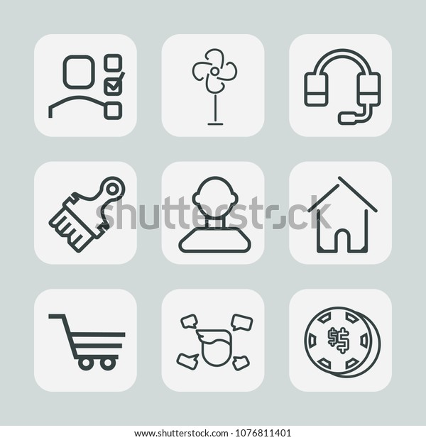 Premium Set Outline Icons Such Gambling Stock Vector