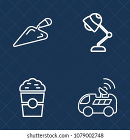 Premium set of outline vector icons. Such as mug, navigation, vehicle, technology, drive, transportation, instrument, drink, wrench, gps, map, cappuccino, light, restaurant, satellite, morning, car