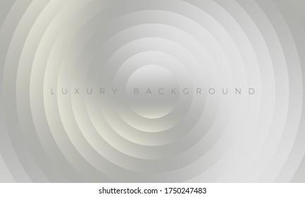 Premium-Hintergrund auf silbergrauem Hintergrund mit stilvollen, gebogenen Elementen. Modernes Luxus-hellgraues Tapete und Hintergrundgrafik. Reichhaltiges abstraktes Design für Header, Website-Vorlage, Landung, Banner.