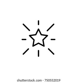 Premium star icon or logo in line style. High quality sign and symbol on a white background. Vector outline pictogram for infographic, web design and app development.