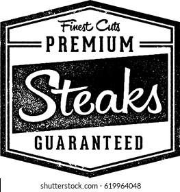 Premium Steaks Butcher & Restaurant Vintage Stamp
