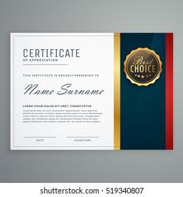 premium style modern certificate template design