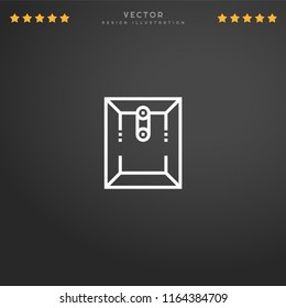 Premium Symbol of Dossier Related Vector Line Icon Isolated on Gradient Background. Modern simple flat symbol for web site design, logo, app, UI. Editable Stroke. Pixel Perfect.