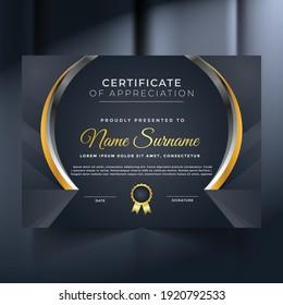 Premium unique certificate and diploma template