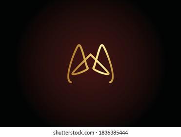 Premium Vector AA Logo design. Beautiful Logotype for luxury branding. Elegant logo design.
