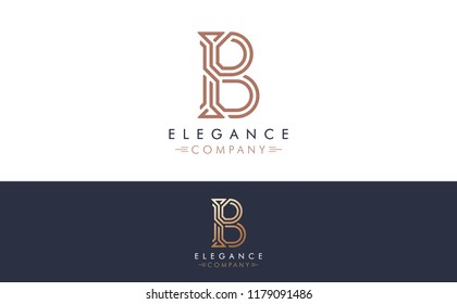 Premium Vector B Logo in two color variations. Beautiful Logotype design for luxury company branding. Elegant identity design for your company.