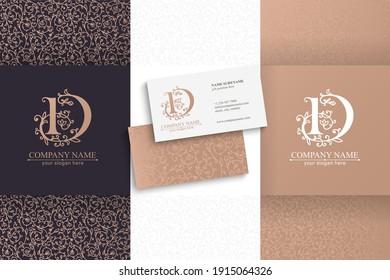 Premium Vector D logo. Monnogram, lettering. Personal logo or sign for branding an elite company. Vector design.