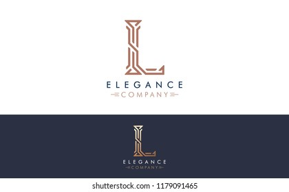 Premium Vector L Logo in two color variations. Beautiful Logotype design for luxury company branding. Elegant identity design for your company.
