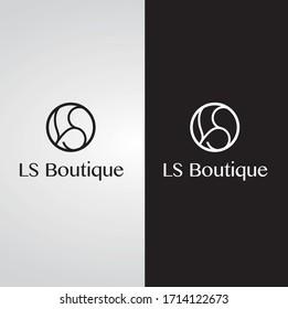 Premium Vector LS Logo for luxury company branding