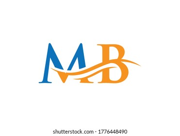 Premium Vector MB Logo. Beautiful Logotype for luxury branding.