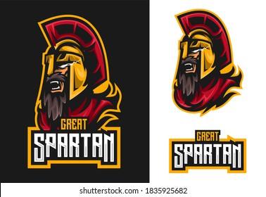 premium vector spartan mascot esport logo design