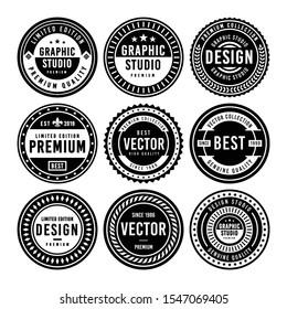 Premium Vintage Badge Design Set