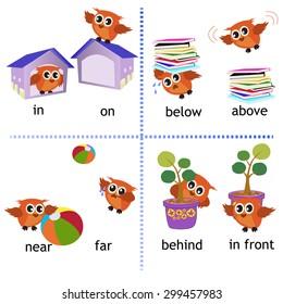 Preposition grammar with Owl motion for preschool