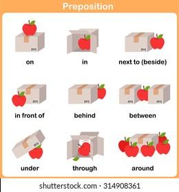Preposition of motion for preschool - Worksheet for education