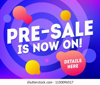 Pre-sale banner template design. Big super sale special offer. Abstract presale modern marketing poster. Promotion discount pre-sales vector art